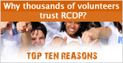 Why Volunteers trust RCDP